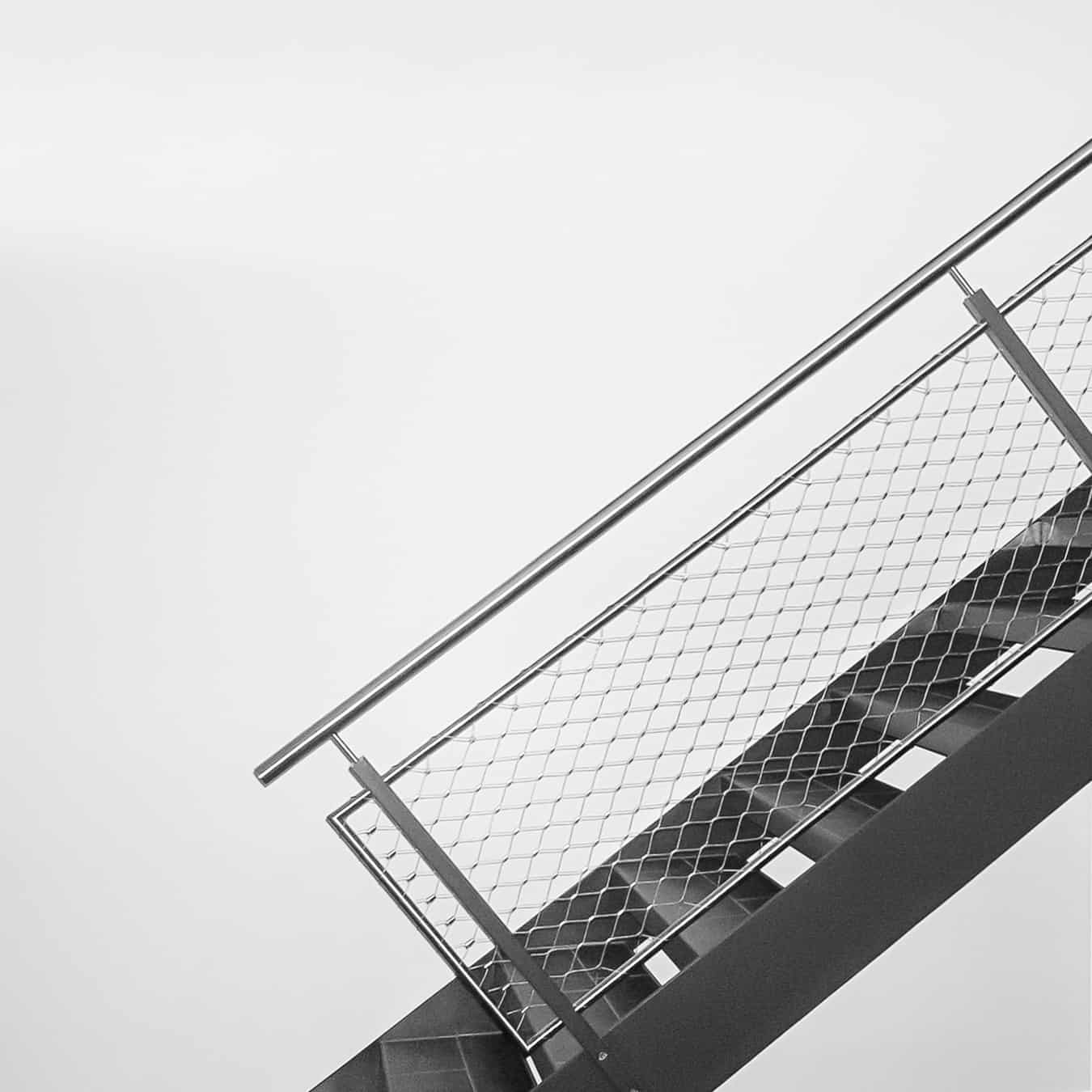 Stahltreppe-Edelstahlnetz