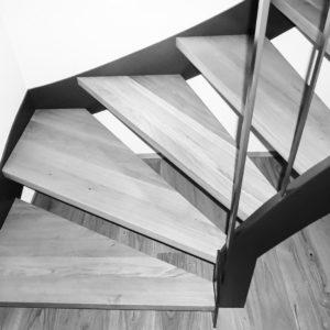 Stahltreppe lackiert metall-werktstatt.at