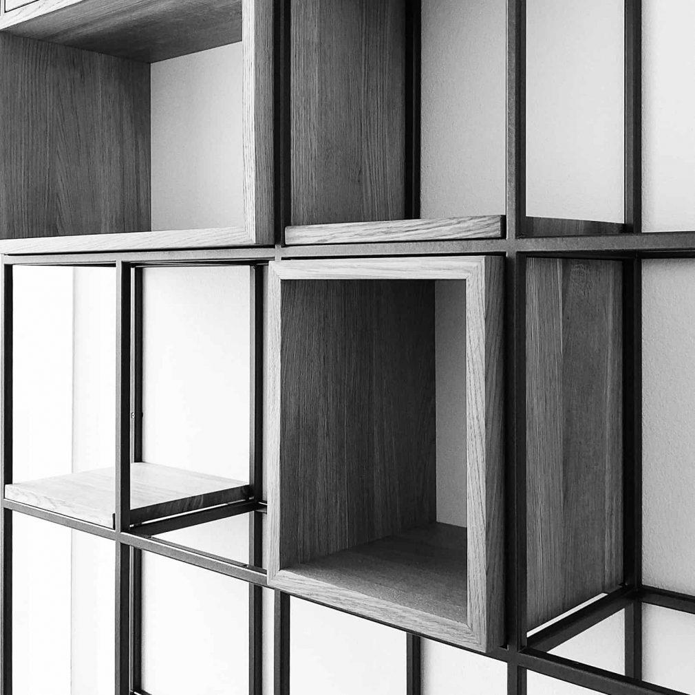 Bücherregal Metall